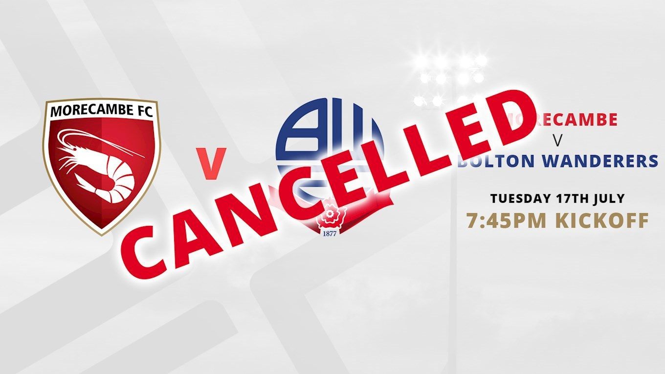 OFFICIAL - MORECAMBE FRIENDLY CANCELLED Large