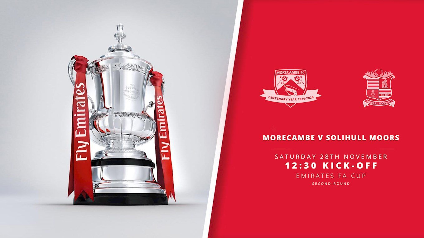 SHRIMPS V SOLIHULL FA CUP COVERAGE - News - Morecambe